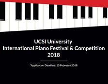 UCSI University International Piano Festival & Competition 2018